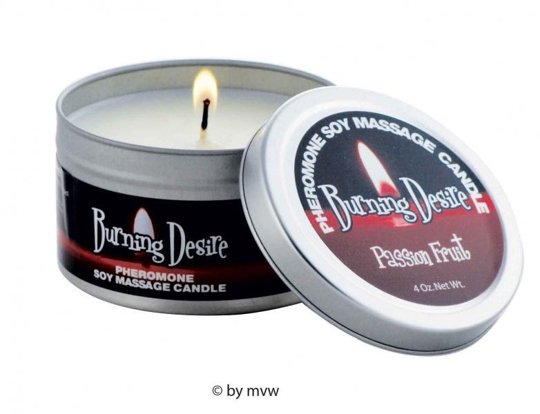 13,27eur/100g Burning Desire Feromoni Soy Candle Massaggio Candela Massaggio Candela Pas-
