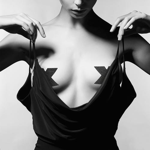 Bijoux Indiscrets Nippelaufkleber Brustwarzenabdeckung Cover Schwarz Gold